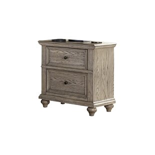 Read Reviews Lorsworth 2 Drawer Nightstand by Greyleigh