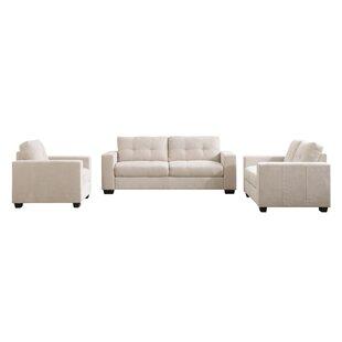 Latitude Run Kaye 3 Piece Living Room Set