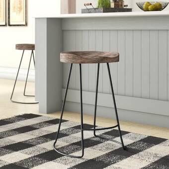 Union Rustic Lukas Solid Wood 24 Counter Stool Reviews Wayfair