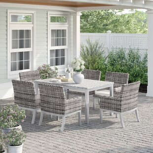 Caspian Wicker 7 Piece Dining Set