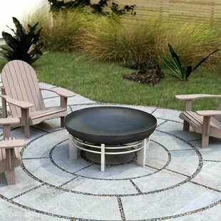 Portola Stainless Steel Charcoal/Wood Burning Fire Pit By Sol 72 Outdoor
