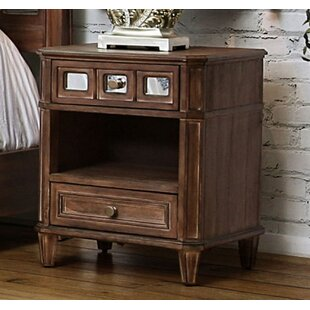Reviews Massasoit 2 Drawer Nightstand by Millwood Pines