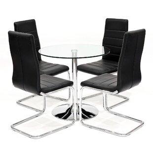 Carlisle Dining Set With 4 Chairs By Metro Lane