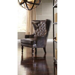Sedgefield Wingback Chair by Lazzaro Leather