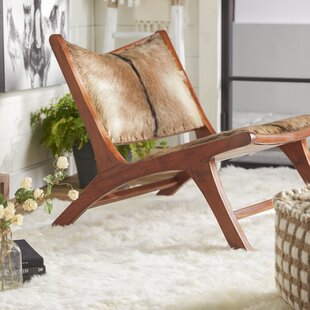 Teak Hide Lounge Chair by Cole & Grey