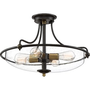 Brayden Studio Helsley 4-Light Semi Flush Mount