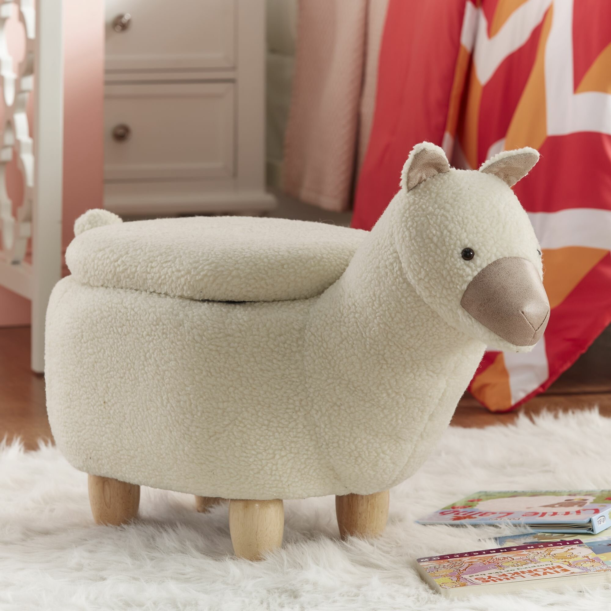 Isabelle Max Emmett Llama Storage Ottoman Reviews Wayfair