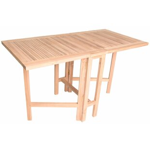 August Grove Kingston Folding Teak Dining Table