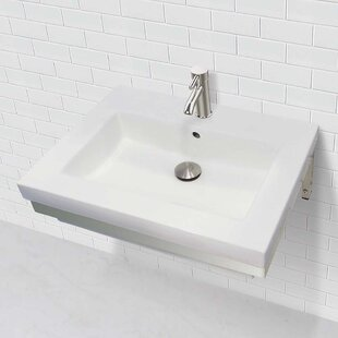 Compare prices Caden Classically Redefined Lavatory 24 Wall Mount Bathroom Sink with Overflow By DECOLAV