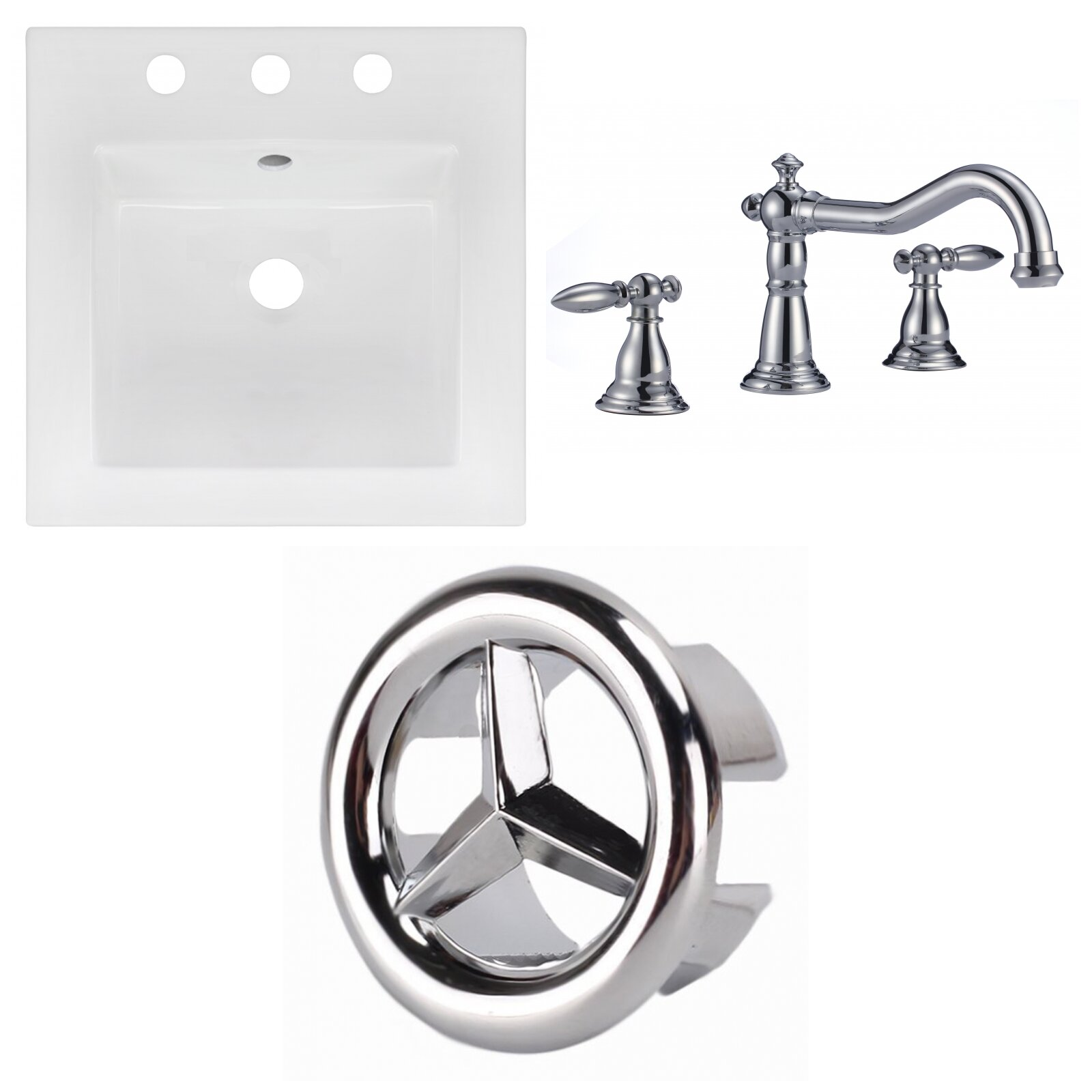 Drop In Sinks Faucet Included Bathroom Sinks You Ll Love In 2021 Wayfair