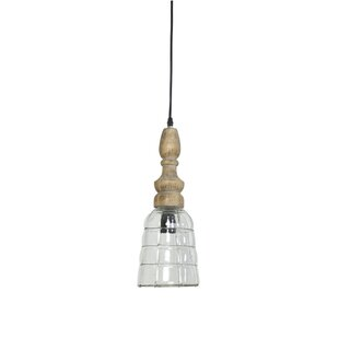 Bungalow Rose Crews Small 1-Light Bell Pendant