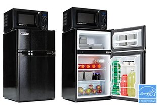 Safe Plug 3.1 cu. ft. Compact Refrigerator with Freezer