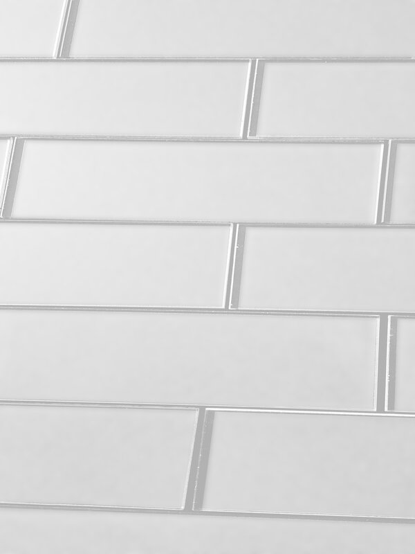 excellent dimensions of subway tile. Secret Dimensions 3  x 12 Glass Subway Tile in Frosted White Abolos