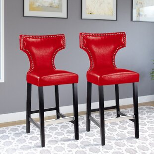 Laughing Sun 29.25 Bar Stool (Set of 2) Red Barrel Studio