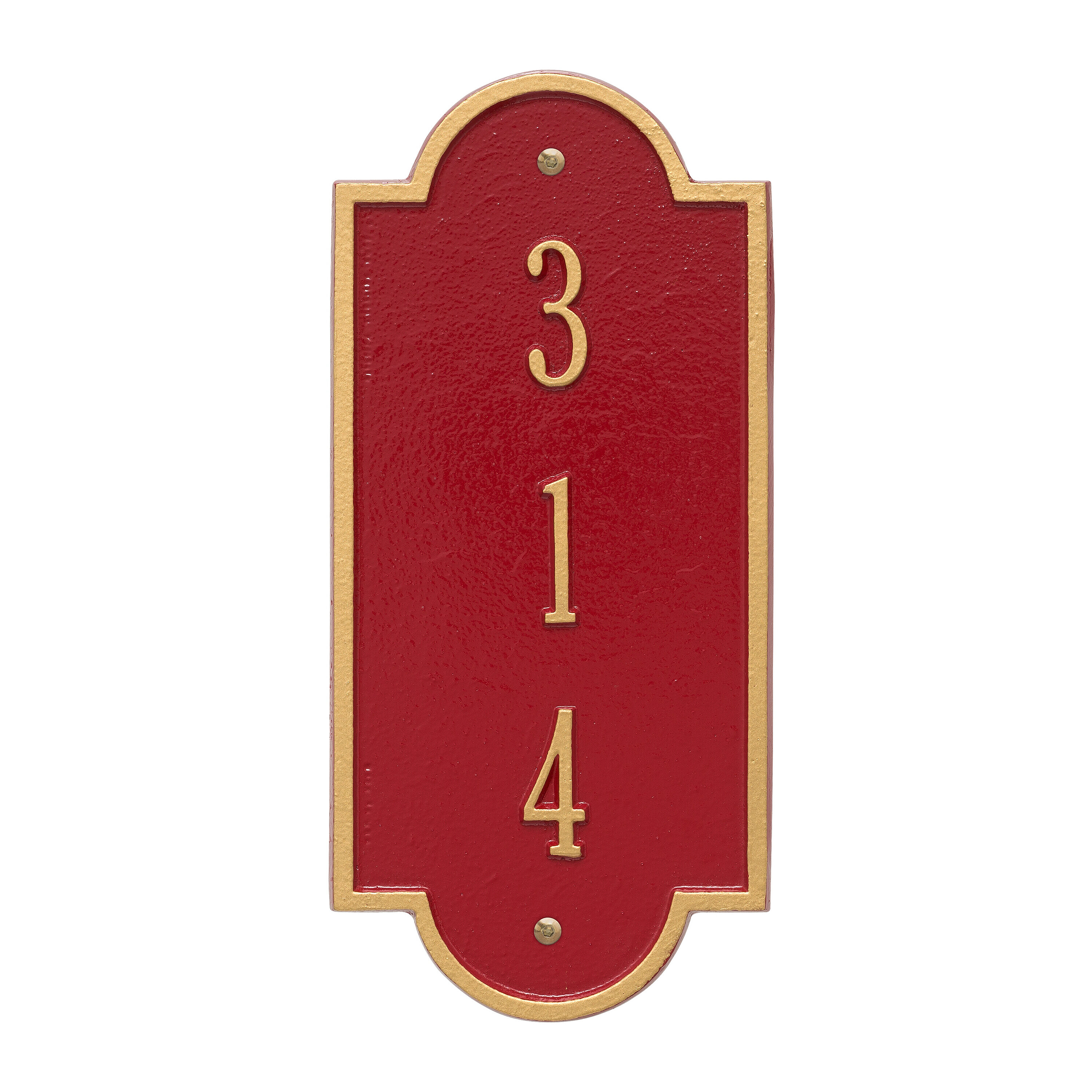 Whitehall Products Richmond Personalized Vertical Petite 3 Line Wall Address Plaque Reviews Wayfair