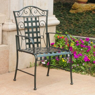 Abbottsmoor Patio Dining Chair Finish: Vertigris by Darby Home Co