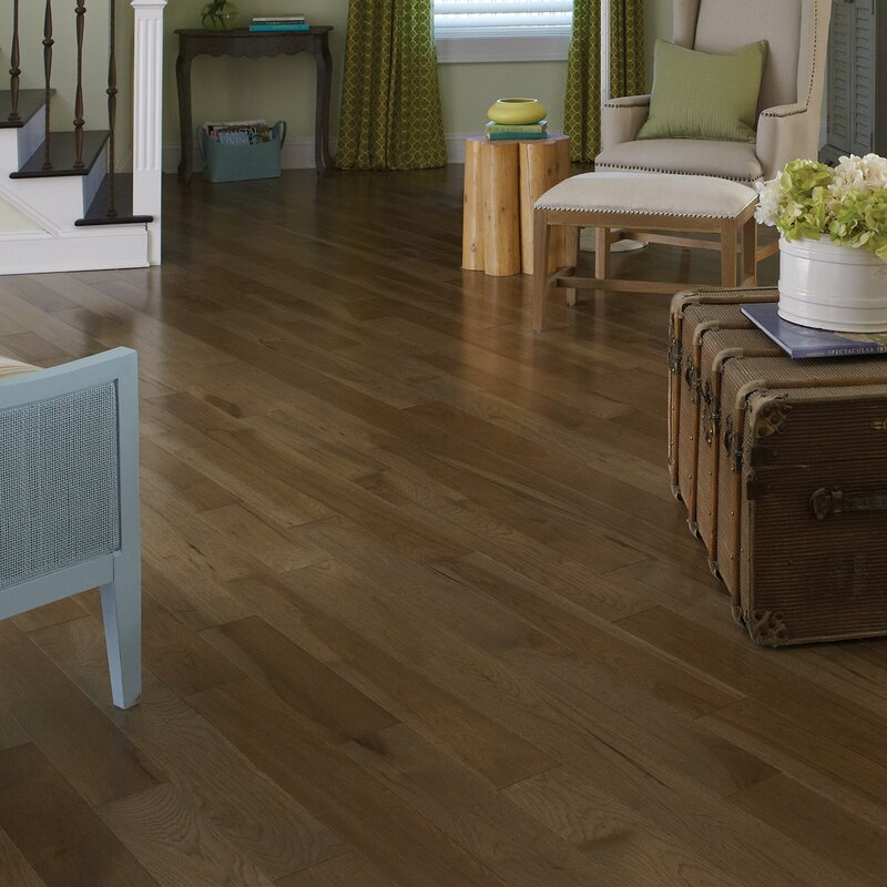 Specialty 5 Engineered Hickory Hardwood Flooring In Moonlight