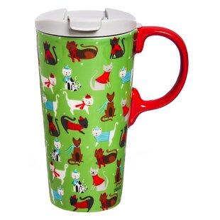 Sassy Cats 17 oz. Ceramic Travel Mug