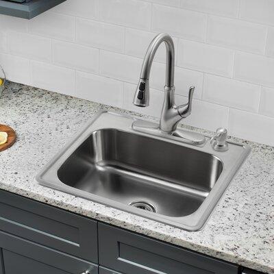 25 l x 22 w single bowl drop in stainless steel kitchen sink - Drop In Stainless Steel Kitchen Sinks
