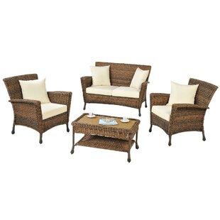 Saturn 4 Piece Sofa Set with Cushions