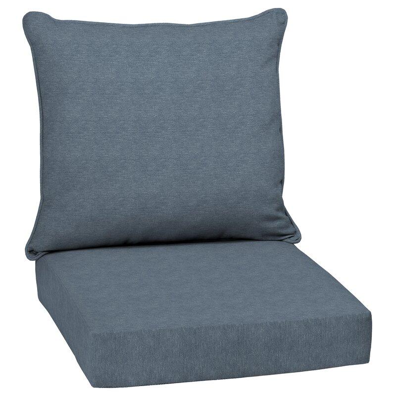 Canora Grey Hamilton Texture Outdoor Seat Back Cushion Reviews Wayfair