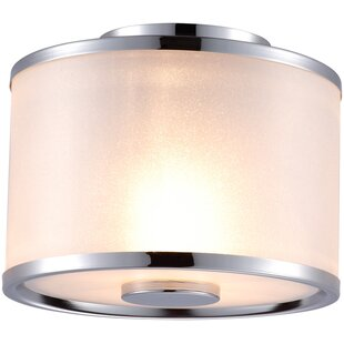 Petrie 2-Light Semi Flush Mount by House of Hampton
