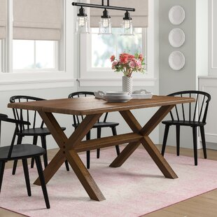Montauk Solid Wood Dining Table Grain Wood Furniture