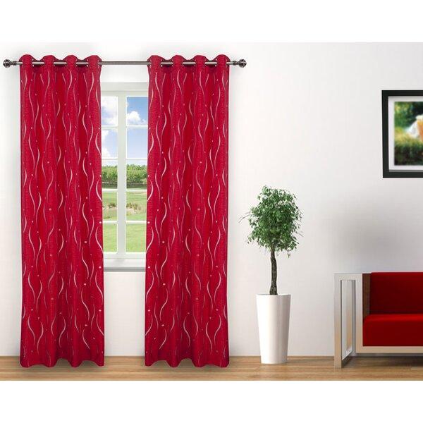 Red Barrel Studio Henriksen Solid Semi Sheer Grommet Curtain Panels Reviews Wayfair