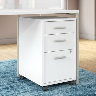 Kathy Ireland Office by Bush Method 3 Drawer Mobile Vertical Filing Cabinet