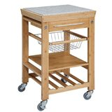 Rivka Spacious Kitchen Cart with Granite Top by August Grove®