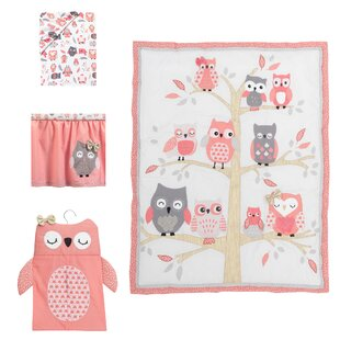 Trend Family Tree Owl 4 Piece Crib Bedding Set By Lambs & Ivy
