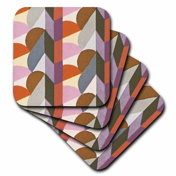 Vintage Art Deco Wallpaper Coasters 4 Set Kitchen Drinks Coaster Gift #2709