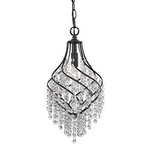 House of Hampton Kissena 1-Light Crystal Pendant
