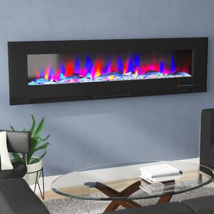 Beveridge Driftwood Log Display Wall Mounted Electric Fireplace by Ebern Designs