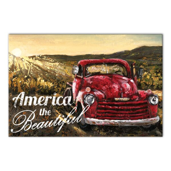 'America the Beautiful' Graphic Art Print on Wrapped Canvas