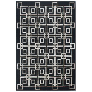 Compare Hand-Knotted Wool/Silk Black/White Area Rug ByExquisite Rugs
