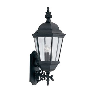 Reviews Slusser 3-Light Outdoor Wall lantern By Charlton Home