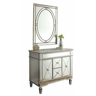 Arango Ravelli 40 Single Bathroom Vanity Set with Mirror by House of Hampton