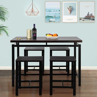 Weatherholt 5 Piece Pub Table Set
