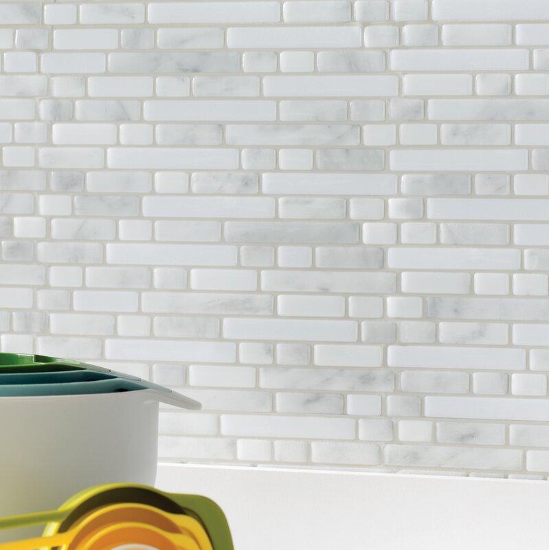 "Subway Tile smart tiles mosaik 10"" x 10"" subway tile in white/gray & reviews"