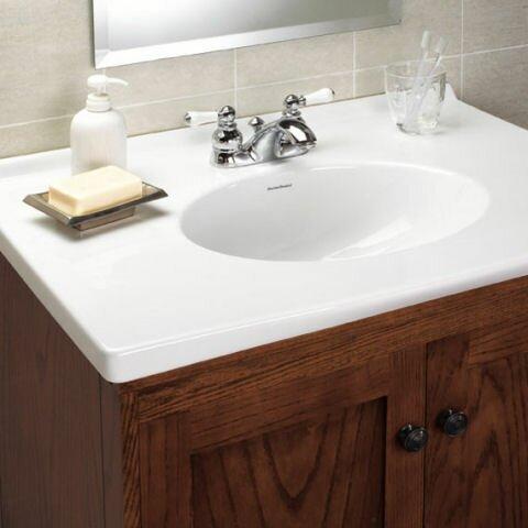 American Standard Hampton Centerset Bathroom Faucet with Drain ...
