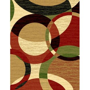 Low priced Aguirre Abstract Black Rust Area Rug ByEbern Designs