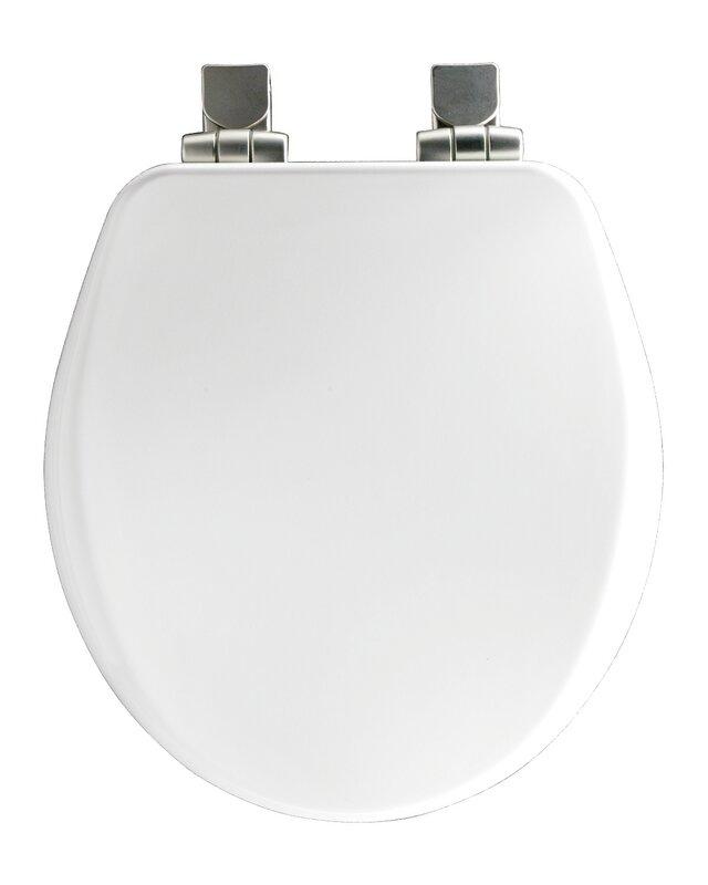 Bemis High Density Molded Wood Round Toilet Seat  Reviews Wayfair - Black wooden toilet seat