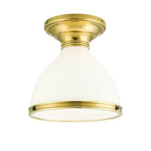 Ekstrom 1-Light Semi Flush Mount by Darby Home Co