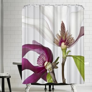 Maja Hrnjak White and Pink Shower Curtain East Urban Home