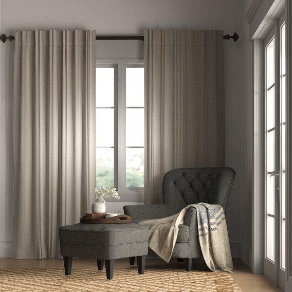 Brayden Studio Johnson Village Striped Room Darkening Rod Pocket Single Curtain Panel Reviews Wayfair