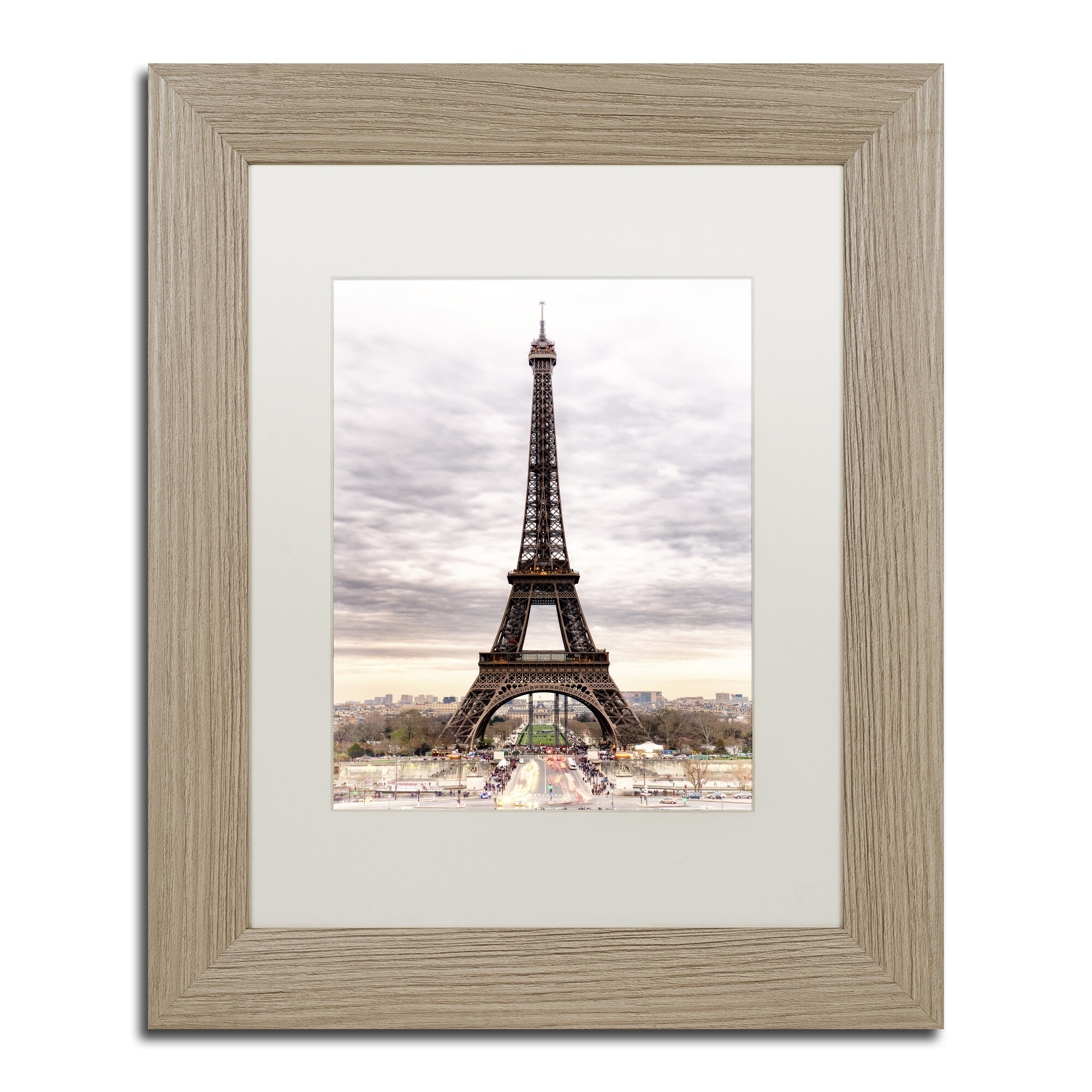 Trademark Art The Eiffel Tower Framed Photographic Print On Canvas Wayfair