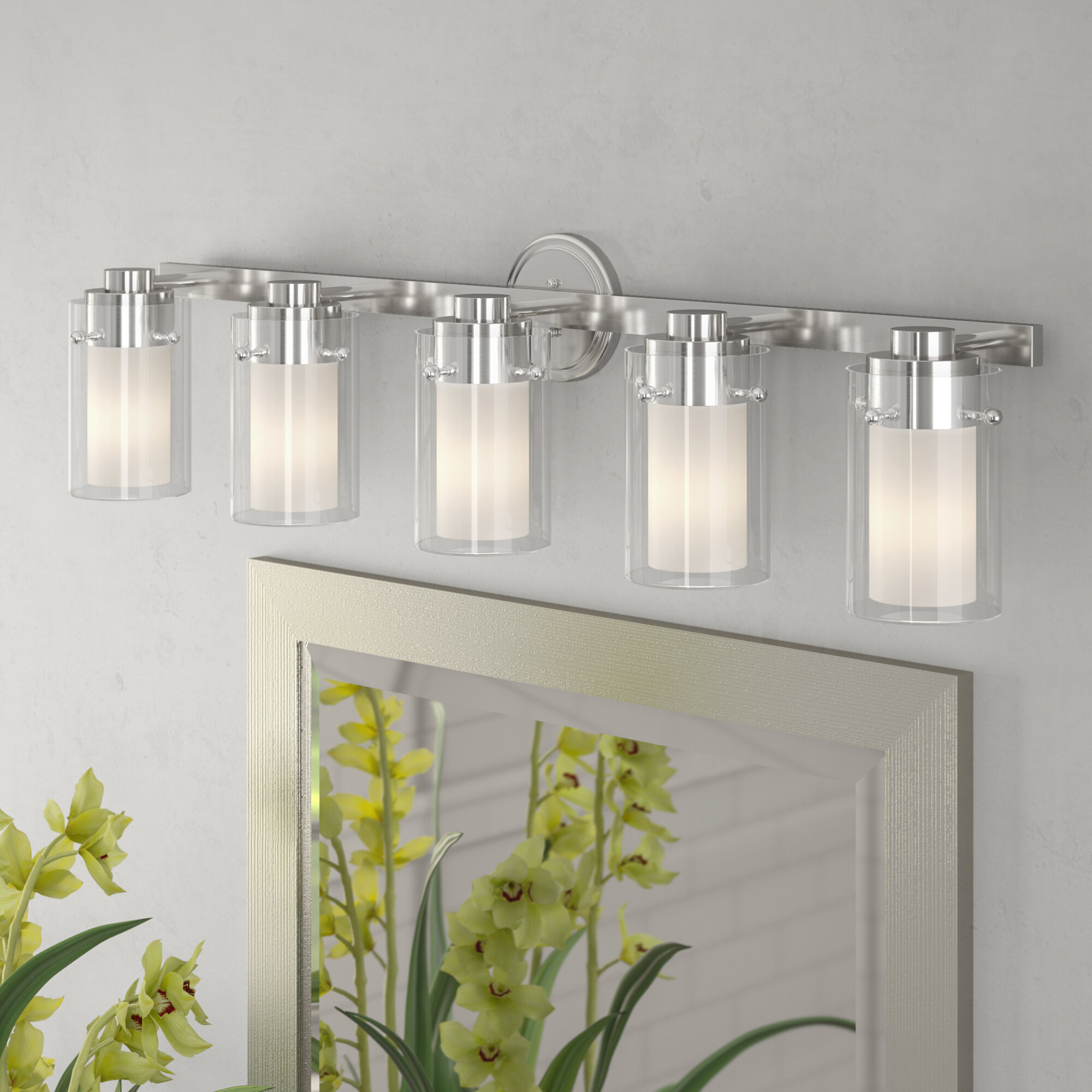 Laude Run Levi 5 Light Vanity