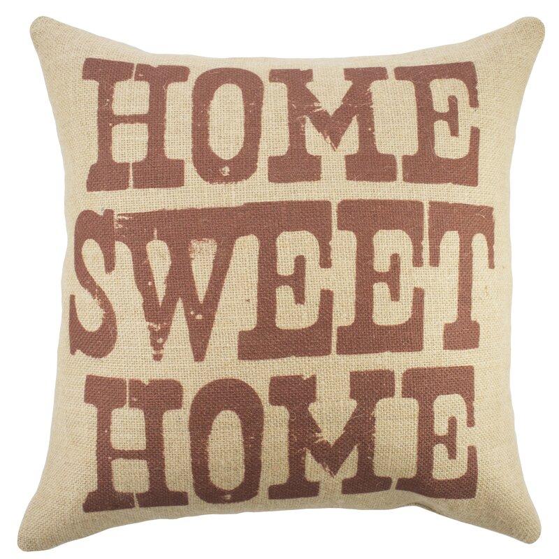 Home Sweet Home' Burlap Throw Pillow Reviews Joss Main Mesmerizing Burlap Star Decorative Pillow