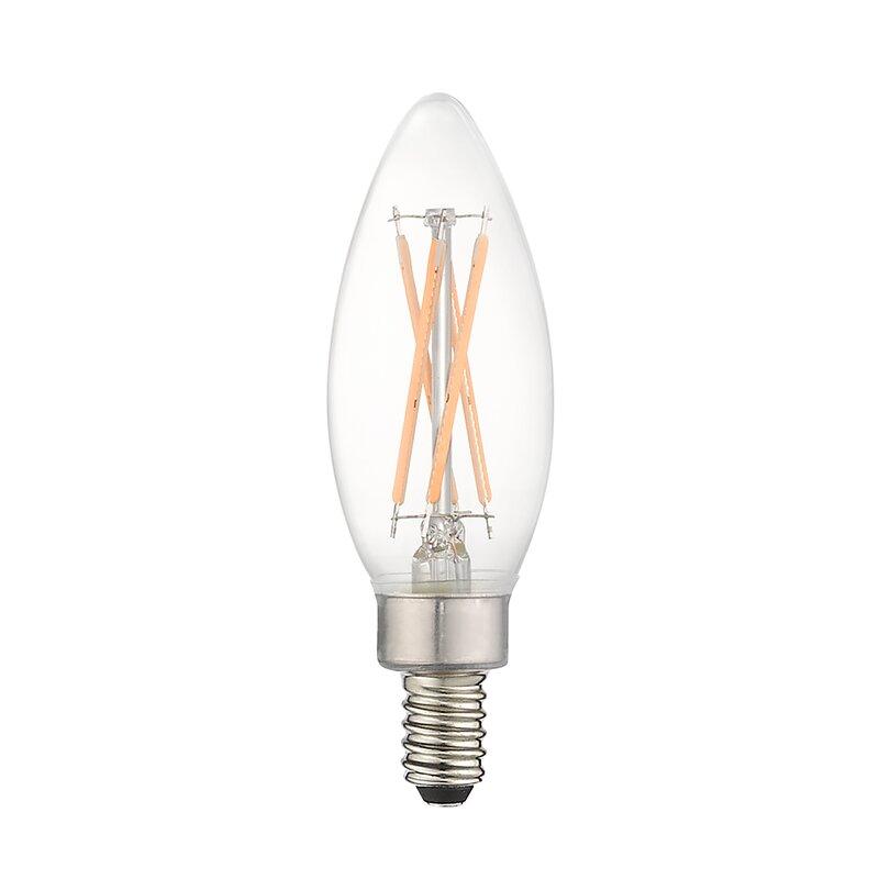 Jtechs Inc 4 Watt 40 Watt Equivalent B10 Led Dimmable Light Bulb Daylight 5000k E12 Candelabra Base Wayfair